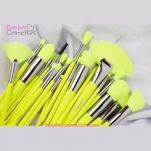 Brochas 24pz Neon Amarilla Beauty Creations