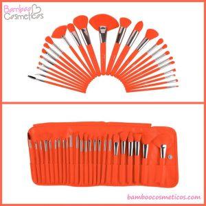 Brochas 24pz Neon Orange Beauty Creations