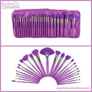 Brochas 24pz Neon Purple Beauty Creations
