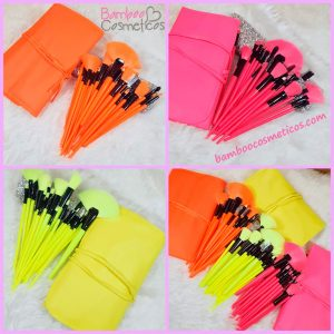 Brochas 24pz Neon