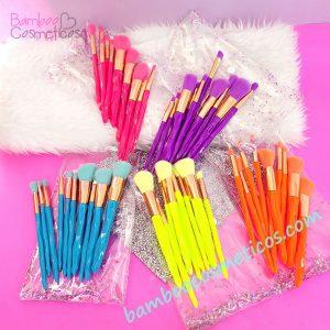 Brochas Neon Glitter 10pz