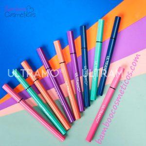 Delineador Con Pegamento Colores 10pz Ultramo