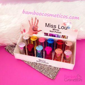 Esmalte Espejo Mini 12pz Miss Lou